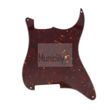 Dark Brown Tortoise 4Ply Blank Outline Custom Pickguard Plate For Strat ST Electric Guitar