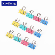 60 PCS 15mm Random Colored Metal Binder Clips for Notes Letter Paper Books Home Office School File Paper Organizer(China)