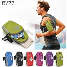 Waterproof Running Riding Nylon Arm Band Case for iphone 5s 4s 6 6S Plus for Samsung Galaxy for Sony HTC Smart phone Bag Pouch