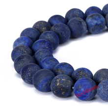 Fctory Price 4 6 8 10 12 mm Natural Stone Dull Polish Matte Lapis Lazuli Round Loose Beads Jewelry Making Diy(China)