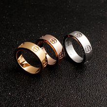 YUN RUO Brand Jewelry Gold Silver Color Classic Screw Couple Rings for Woman Man Gift Fashion 316 L Stainless Steel Never Fade(China)