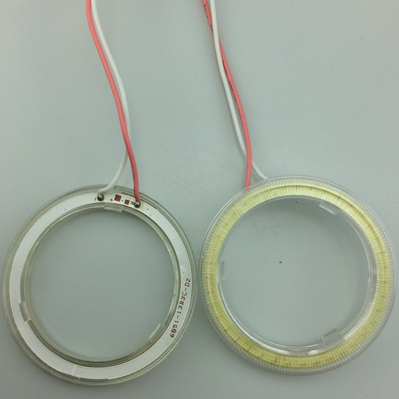 LED Angel Eyes COB 2PCS Auto Halo Ring 60MM 70MM 80MM 90MM 100MM 110MM 1MM Car Motorcycle With Lampshades 12V For BMW E60 E39 17