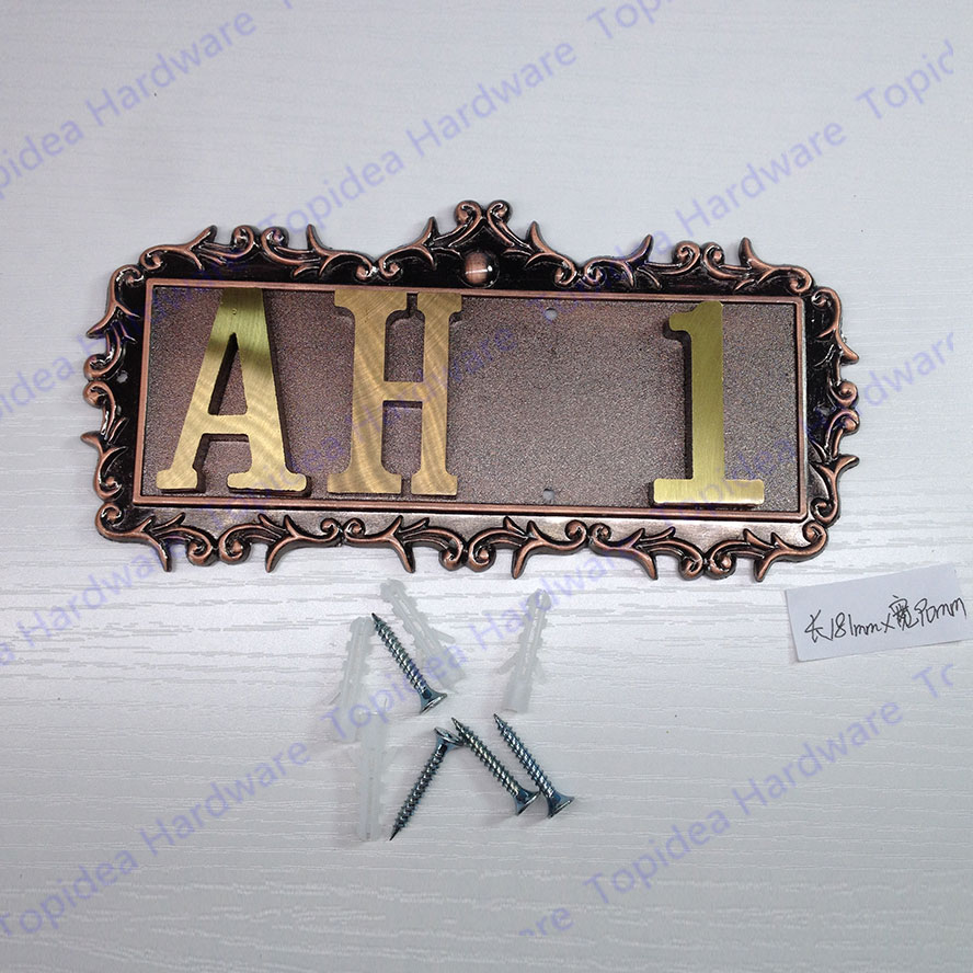 4 Characters New European Classic  retro style doorplate with<br>