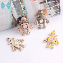 Homemade DIY accessories alloy pendant earrings pendant drop of oil hair protein drilling robot