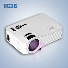 Mini Portable LED beamer Projector Proyector UC36 high lumens 640*480 1080P with HDMI AV USB SD for computer smartphones PC DVD(China)