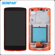 Red For LG Google Nexus 5 D820 D821 LCD Display + Touch Screen with Digitizer + Bezel Frame Assembly Free shipping(China)
