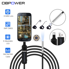 DBPOWER 2 MP 8.5MM Lens USB Endoscope 15M/7M/5M HD Inspection Mini Camera Borescope Snake Video Cam 6LED Night Vision With OTG(China)