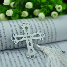 10 pcs/lot Cute Cross Love Silver Metal Bookmarks Creative Gift for Wedding High quality Gift Pakage Wholesale