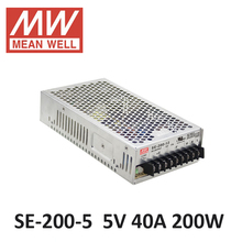ac dc power source 5V 40A 200W Original Meanwell Switch Power Supply SE-200-5 Industrial Economical medium to high power models
