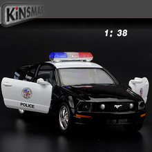Brand New Ford 2006 Mustang GT Police CCar Alloy Diecast Model Car Vehicle Toy Collection As Gift For Boy Children Toys