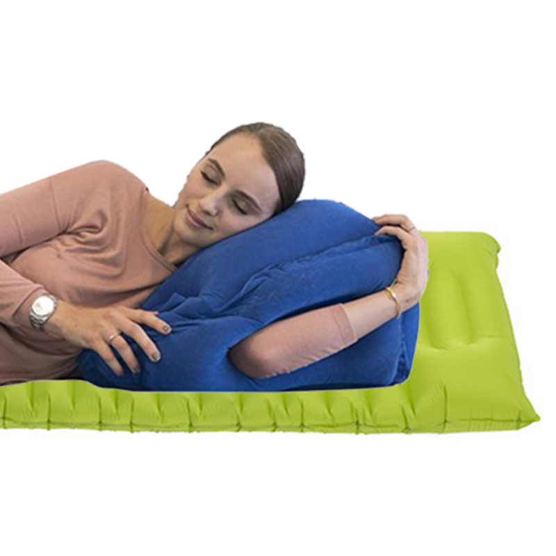 2017 hot sale Multi-function Inflatable Woollip travel outdoor pillow Inflatable Travel on Airplane outdoor Pillow Cushion mat  (5)