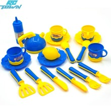 RCtown 19pcs Mini Simulation Kitchenware Sets Pretend Play Utensils Puzzle Toys for Kids Xmas Gifts zk30(China)