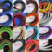 "3MM 1/8"" TIGHT Braided PET Expandable Sleeving Cable Wire Sheath Black/Red/Orange/Yellow/Green/Blue/Purple/Gray/White/Clear(China)"