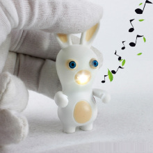 New LED Flashlight Keychina with Sound Action Toy Figures Raving Rabbids Keychain Toys Gift For Child Kids Toys(China)