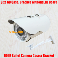 Waterproof IR Bullet Camera Case & Bracket Size 60mm Aluminum Alloy IP66 Outdoor Camera Casing Housing for 36pcs IR LED Board