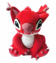 New Lilo & Stitch Red Leroy Plush For Girls Boys 28CM Kids Stuffed Toys For Children Christmas Gifts(China)