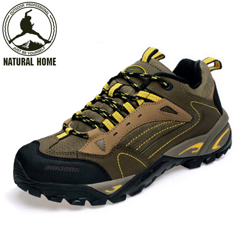 NaturalHome Brand men sports lace-up trek shoes mountain climb hiking boots khaki outdoor tactical mens walking shoes<br><br>Aliexpress