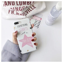 Stars dream phone case For iphone 6 6splus Scrub Soft TPU case for iphone X 6s 6plus 7 7plus 8 8Pplus protective case(China)