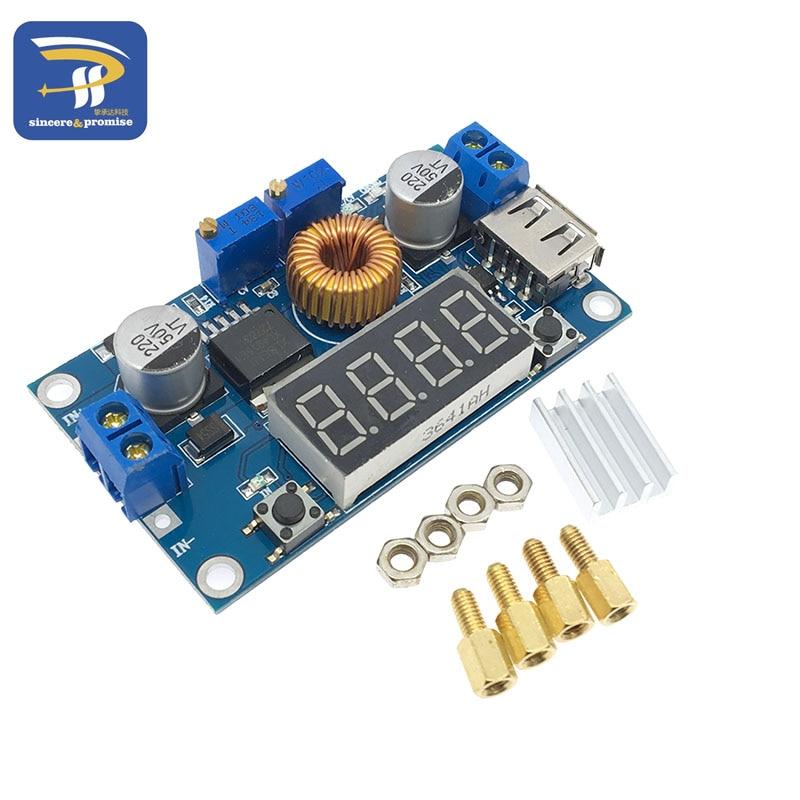 DC-DC XL4015 5A Digital LED Drive Lithum Battery Charger Module CC/CV USB Step Down Buck Converter With Voltmeter Ammeter