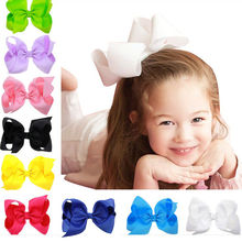 Hot Sale 1 PCS Fashion Baby Child Big Bow Hairpins Infant Hair Clips for Kids Girls Pretty Lovely Hair Clips Baby Headdress(China)