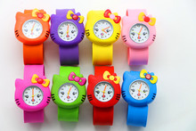 New Arrival Free shipping,Hello Kitty Designs,Cartoon Watch 8 different Nice Slap hello kitty Watch