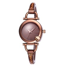 Women's Brand Watches Ladies Bracelet Wristwatch Fashion Coffee Silver Crystal Diamond Bangle Bracelet Dress Watch Female Clock