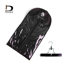 custom printed Virgin hair extension hanger dustproof cover sale packaging bags non woven fabrics wig stands 100set lot(China)
