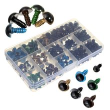 264pcs DIY Plastic Eyes Dolls Part6-12mm Black 10/12mm Colorful Safety Eyes For Teddy Bear Doll Animal Crafts  Dolls Accessories