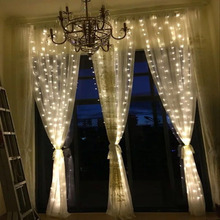 3*1M/3*2M/3*3M /6*3M Christmas String Light LED Icicle Fairy Light Wedding Home Garden Party Decoration Lamp Curtain Light(China)