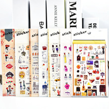 DIY Cute Kawaii PET Stickers Vintage Tower Sticky Paper For Home Decoration Scrapbooking Photo Album Diary Free Shipping 3446(China)