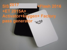 SIS july-2017+Flash 2016+ET 2015A+keygen+ Factory pass generator+PRICE LIST 2017+HDD500GB+install video for black cat(China)
