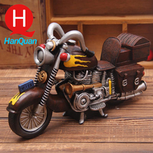 Resin Toy Vintage Cool Scale Motorbike Models Resin Motorcycle Toy for Collection Gift for Kids Craft Antique Imitation Toy(China)