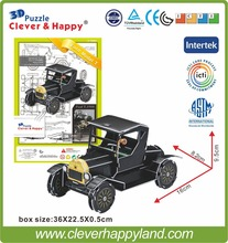 New 2014 Clever&Happy 3d puzzle Ford Model T child puzzle early learning toy adult drawings handmade model learning & education
