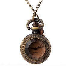 Cindiry Vintage Glass Alice In Wonderland Drink Me Bottle Dark Brown Quartz Pocket Watch for Women Lady Girl Gift P19