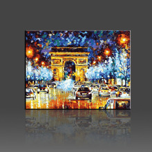 City Cars Pictures Painting By Numbers DIY Oil Canvas Arts Coloring By Numbers Handpainted painting For Living Room Gift 40x50cm(China)