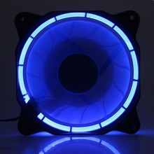 5Pcs Eclipse Fan 120mm Blue LED PC Computer Cooler CPU Cooling Case DC 12V 3Pin 4Pin