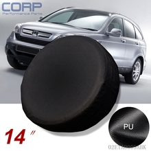 "New 14"" Inch Spare Tire Cover Wheel Protector Covers For CRV SUV RAV4 Black"