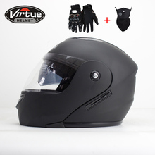 New Flip up helmet full face helmet motocicleta racing casco Helmets motorcross DOT(China)