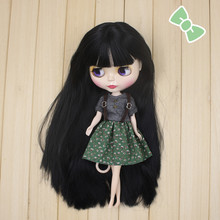 Free shipping Nude Factory Blyth Doll Series No.BL9601 Black hair white skin special price Neo