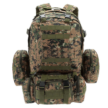 55L Outdoor Army Bag Camping Hiking Trekking Backpack Camo 3P Jungle digital