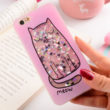 Buy Cartoon Cat Flower Perfume Bottle Quicksand Dynamic Liquid Glitter Phone Case iPhone 6 s Plus Case iPhone 7 8 Plus Case for $2.55 in AliExpress store