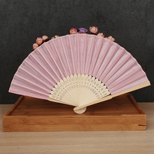 Wholesale Free Shipping 100pcs/lot Japanese Chinese Handmade Pocket Fan Ladies Folding Fan Craft Gift Decoration Favor Outdoor