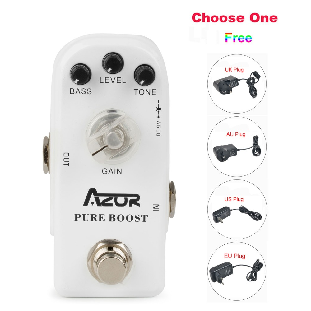 AP-304 Pure Boost Mini Guitar Effect Pedal with Ture Bypass+9V1A Adapter and 8 Heads Multi-interface Effects Connecting Cable<br>
