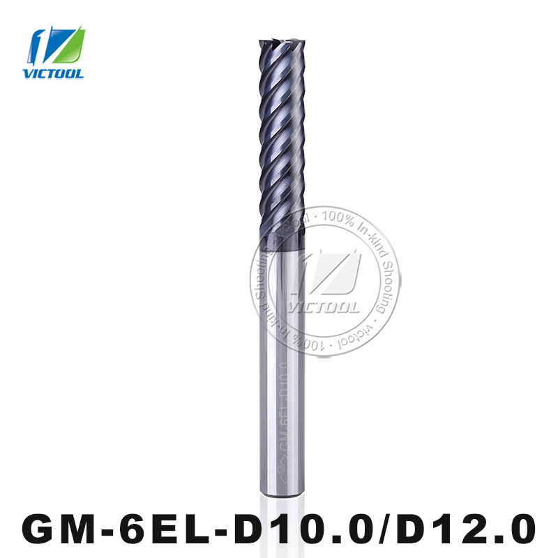 GM-6EL-D10.0/D12.0 Cemented Carbide High Speed 6-Flute Flattened End Mill Straight Shank Milling Tools Machining Stainless Steel<br><br>Aliexpress