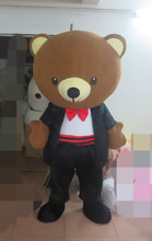 Newest Version Light wedding Bear mascot costume Cartoon Mascot Character Costume For Adult Free Shipping