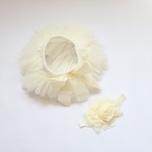 Baby Girl Chiffon Ruffle Flower Shorts Bloomers Princess Pettiskirt Panties Diaper Cover Baby Bottom Pants Nappy Covers PP Skirt(China)