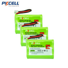 3pcs Ni-MH Battery Pack AAA 800mAh 3.6V Cordless Phone Battery Replacement for SD-7501 JST-HER-2P (PK-0031)(China)