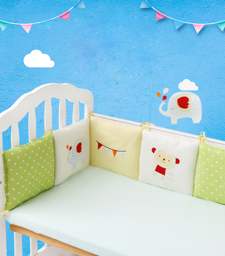 Soft-Crib-Bumper-Baby-Cot-Bed-Protection-Breathable-Bed-Around-Cushion-Baby-Bumpers-in-The-Crib-Monkey-Elephant-30cmx30cmx6pcs-04