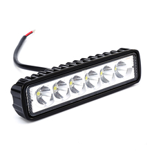 New 18W 12V LED Work Light Bar Spotlight Flood Lamp Driving Fog Offroad LED Work Car Lights for Ford Toyota SUV 4WD Boat Truck(China)