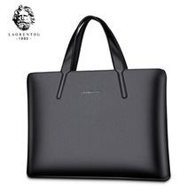 2017 Original LAORENTOU Brand Business Briefcase Men Genuine Leather Handbag / Laptop Bag Top Quality Real Leather Briefcases